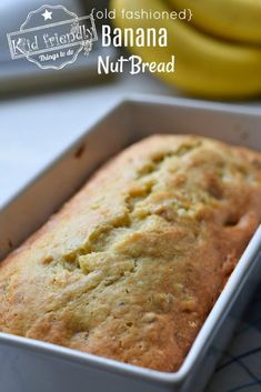 Aunt Nadine s Old Fashioned Banana Nut Bread Recipe Use your overripe bananas to make this delicious banana nut bread This is an old fashioned recipe that is moist easy to make and loaded with walnuts Banana Nut Bread Moist, Banana Nut Cake, Banana Walnut Bread, Carrot Cake, Recipes For Old Bananas, Banana Bread Recipes, Homemade Banana Bread, Dessert Bread, Dessert Recipes