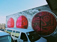 How & Nosm mural in Los Angeles