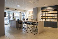 Showroom Ideas, Tile Showroom, Showroom Design, Exhibition Display, Jaco, Cabinet Ideas, Marble, Kitchen Cabinets, Design Inspiration