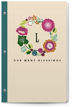 Consider giving a Blessings Journal to someone facing a difficult time. It will give them a place to jot down the things that brighten their day and then when life disappoints or fear abounds, they can pick up the journal and remind themselves they're not forgotten.