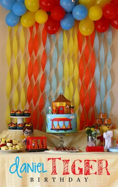 We celebrated my daughter's 2nd birthday this year with a fun Daniel Tiger…