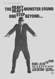 Madness--One Step Beyond ad Ska Music, Music Icon, Genre Musical, Skinhead Reggae, Ska Punk, One Step Beyond, Music Flyer, Rude Boy, Band Posters