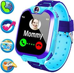 Kids Smart Watch Phone for Girls Kids Game Smart Watch with Music Camera SOS Call Alarm Clock Recorder Electronic Learning Toys Birthday Gifts Best Kids Watches, Cool Watches, Phone Watch For Kids, Children's Choice, Kids Smart, Favorite Cartoon Character, Gps Tracking, Learning Toys, 4 Kids
