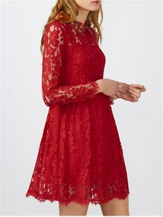 GET $50 NOW | Join RoseGal: Get YOUR $50 NOW!http://m.rosegal.com/lace-dresses/flat-collar-lace-mini-skater-1064647.html?seid=8260821rg1064647