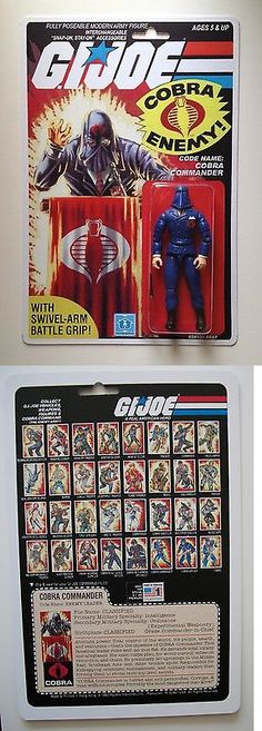 Military and Adventure 158679: Custom Made Cobra Commander 3 3 4 Gi Joe Vintage Style Arah Action Figure Moc -> BUY IT NOW ONLY: $39.95 on eBay!