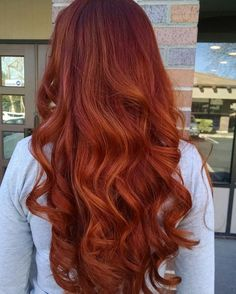 Red and copper balayage color, copper hair color for auburn ombre brown amber balayage and blonde hairstyles #BlondeHairstylesGolden #WomenHairColorAuburn