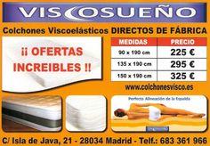 Oferta Colchones Madrid, colchones baratos de viscoelastica - ViscoSueño , Colchones Madrid baratos, colchones viscoelásticos directos de Fabrica, Oferta de colchones Madrid