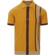 Madcap England men's retro mod racing stripe jersey t-shirt in cream with orange and brown. Mens mod and retro inspired clothing. Cool Outfits For Men, Casual Wear For Men, 60s Men's Fashion, Mens Fashion, Urban Fashion, Fashion Shoes, Northern Soul, Cycling Tops, Racing Stripes