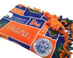 University of Florida Gators Fleece Tie Blanket - College NCAA No Sew - Green, Orange Patterns - All Sizes Available - XL, L, M, S, XS on Etsy, $57.00