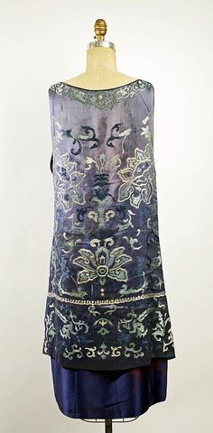 Dress, Evening. Callot Soeurs  (French, active 1895–1937). Date: 1926. Culture: French. Medium: silk.
