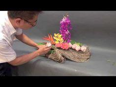 B43 創意花藝設計 floral design - YouTube