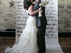 Design Inspiration: Non-Traditional Backdrops for DIY Weddings
