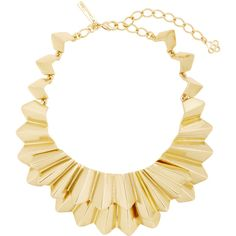 Oscar de la Renta Gold-Tone Brass Necklace ($650) ❤ liked on Polyvore featuring jewelry, necklaces, gold, brass necklace, oscar de la renta jewelry, gold tone jewelry, goldtone jewelry and oscar de la renta