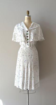 1930s dress / vintage 30s dress / Fresh Sprout dress