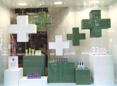 Vitrine pharmacie du Caducée