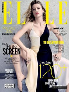 Amber Heard on the cover of Elle Indonesia - Fall (2015)
