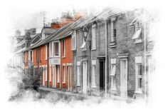 Quaint street in Salisbury   by P Sterling Images