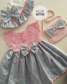 Best 12 Emilse sofía s 156 media analytics – Artofit – Page 324048135687282566 – SkillOfKing. Baby Girl Dress Patterns, Little Girl Dresses, Girls Dresses, Baby Girl Crochet, Crochet Baby Clothes, Baby Outfits, Kids Outfits, Kids Frocks, Diy Dress