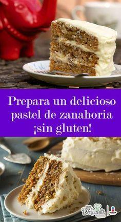 receta de pastel de zanahoria esponjoso sin gluten | CocinaDelirante