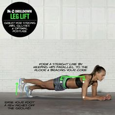Leg Lifts. Do these with tucked hips in order to protect your back!