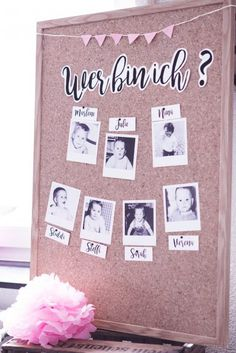 It& a girl: 5 ideas for a nice baby shower ›baby corner - Who am I? Baby shower game shower Informations About It's a girl: 5 Ideen - Baby Shower Unique, Deco Baby Shower, Fun Baby Shower Games, Baby Shower Activities, Baby Games, Baby Shower Parties, Girl Shower, Babyshower Party, Baby Party