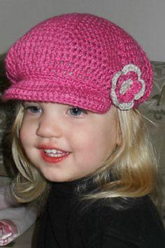 Ravelry: Newsboy Cap pattern by Emma Witten_Free Pattern Crochet Newsboy Hat, Crochet Kids Hats, Crochet Cap, Crochet Girls, Crochet Crafts, Crochet Clothes, Crochet Projects, Knitted Hats, News Boy Hat