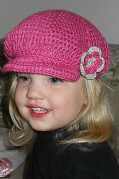 Free crocheted newsboy hat