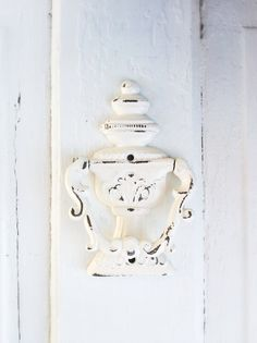 Door Knocker Old Heirloom Creamy White Chippy and by CamillaCotton