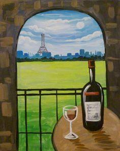 Paint Nite - Relaxing in Paris
