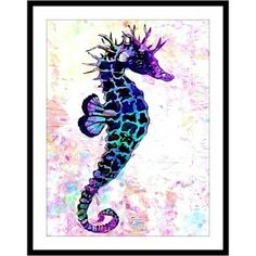 Seahorse Stained Glass Look Art Print by South Shore Art by South Shore Art on Opensky