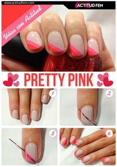 "Tutorial: Manicure rosa para primavera #manicure #nails #nailart #uñas #tutorial ""decorado #opi #primavera #spring #2014"