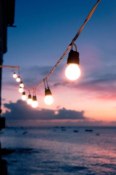 Summer night string of lights-By the Water event inspiration