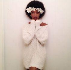Resultado de imagem para headband with flowers afro hair