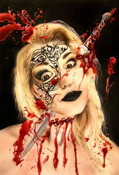 Airbrush on synthetic paper Airbrush Art, Illustration, Halloween Face Makeup, Paper, Illustrations