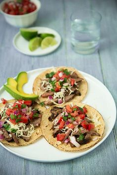 These tender and lightly charred Carne Asada Tacos will have you coming back for more. The simple carne asada marinade is also great for fajitas! Carne Asada, Beef Recipes, Mexican Food Recipes, Cooking Recipes, Cooking Tips, Healthy Recipes, I Love Food, Good Food, Yummy Food
