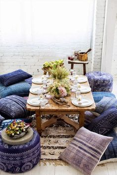 Indian interiors Terrace Idea instead of common chairs and table.