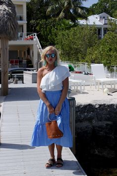Ruffle Wrap Skirt - Reese's Hardwear - Summer Vacation Style