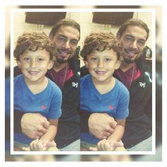 Joe Anoa'i aka Roman Reigns with his adorable nephew