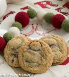 Best Chocolate Chip Cookies   Chewy cookies with big semi-sweet chocolate discs   http://thatskinnychickcanbake.com