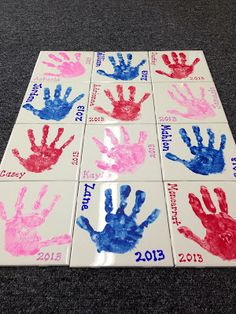 ceramic tile hand prints Five for Friday...Flashback {May 10 edition}