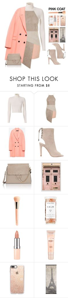 """""""Pink Coats"""" by doga1 ❤ liked on Polyvore featuring A.L.C., Topshop, Kendall + Kylie, Chloé, Pottery Barn, Guerlain, Herbivore, Rimmel, Maybelline and Casetify"""
