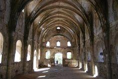 Inside the deserted church of the ghost village of Kayakoy - Mediterranean Turkey