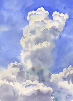 """""""The Last Cloud Of The Day"""" by Wyatt Waters"""