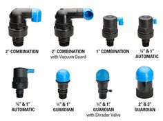 Combination air vents, automatic air vents, and guardian air vents for drip irrigation