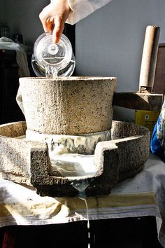 Winter has taken grip outside, but inside the cottage spinning the wooden handle of the old stone grinding wheel, I'm starting to build up quite a sweat. A trickle of creamy soy milk is dripping from the heavy grinding stone into the basin below, drop by drop, and it already smells good. The mysteries of …