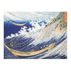 Hokusai Ocean Waves Japanese Fine Ukiyo-e Cotton Linen Tablecloth 52