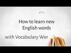 How to learn new English words with Vocabulary Worksheets Vocabulary Worksheets, English Vocabulary, English Grammar, English Language, Second Language, Foreign Language, English For Beginners, Broken English, Language School