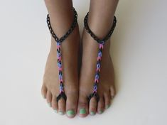 Footwear. | The 30 Most Important Rainbow Loom Accomplishments Of 2013