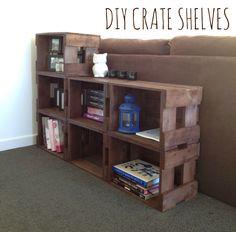 DIY Crate Shelves via Happy Little Kiwi