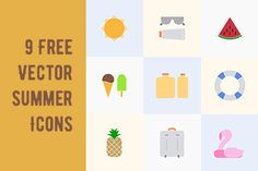 9 Free Vector Summer Icons